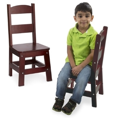 Picture of Melissa & Doug® Wooden Chair Pair - Espresso