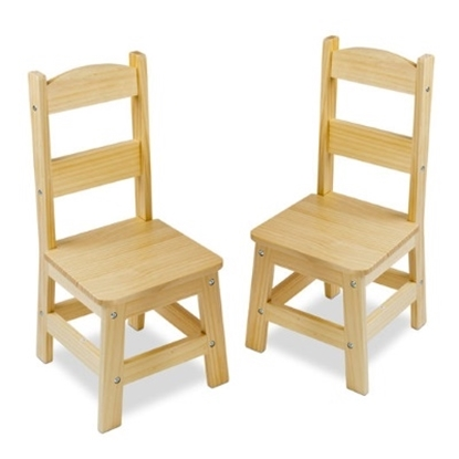 Picture of Melissa & Doug® Wooden Chair Pair - Natural