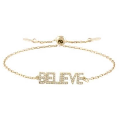 Picture of Lulu DK 14K Gold-Plated Brass Believe Bracelet