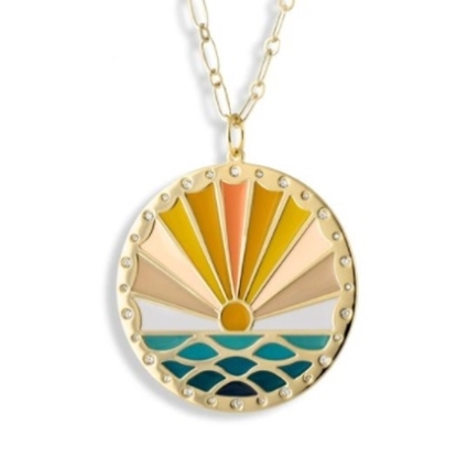 Picture of Lulu DK 14K Gold-Plated Grateful For Each Day Pendant