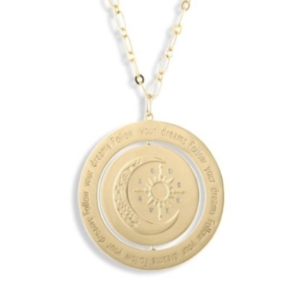 Picture of Lulu DK 14K Gold-Plated Follow Your Dreams/Keep Going Pendant