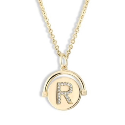 Picture of Lulu DK Initial R Necklace - 14K Gold-Plated Brass