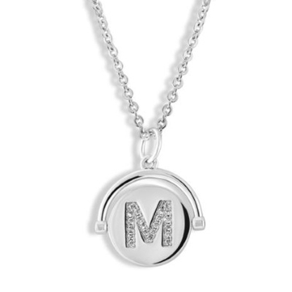 Picture of Lulu DK Initial M Necklace - Rhodium-Plated Brass