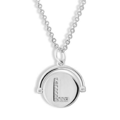Picture of Lulu DK Initial L Necklace - Rhodium-Plated Brass