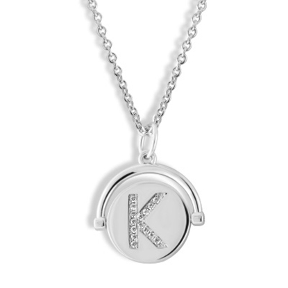 Picture of Lulu DK Initial K Necklace - Rhodium-Plated Brass