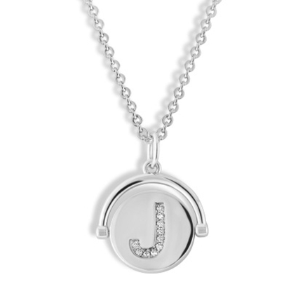 Picture of Lulu DK Initial J Necklace - Rhodium-Plated Brass