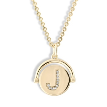 Picture of Lulu DK Initial J Necklace - 14K Gold-Plated Brass