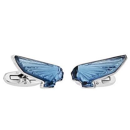 Picture of Lalique Victorie Cufflinks - Blue Palladium