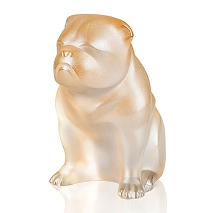 Picture of Lalique Bulldog Figure - Gold Luster