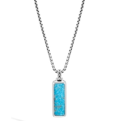 Picture of John Hardy Men's Classic Chain Pendant with Turquoise