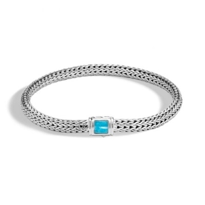 Picture of John Hardy Classic Chain Extra Small Bracelet with Turquoise