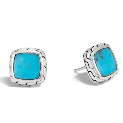 Picture of John Hardy Classic Chain Stud Earrings with Turquoise