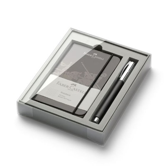 Picture of Faber-Castell Ambition Black Resin Rollerball & Notebook Set