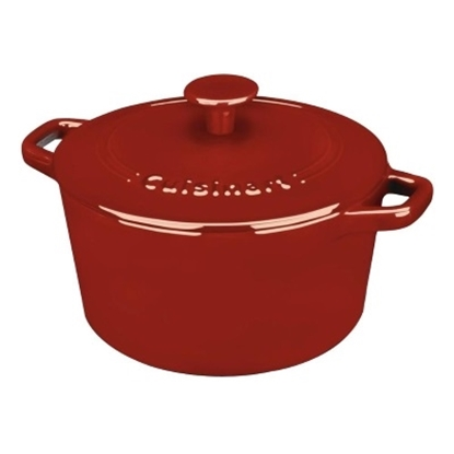 Picture of Cuisinart® Enameled Cast Iron 3-Quart Casserole - Red