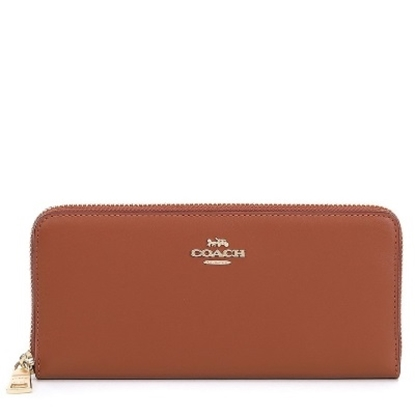 Picture of Coach Slim Accordian Zip Wallet - Saddle