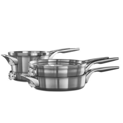 Picture of Calphalon Space Saving Stackable 6PC Stainless Steel Cookware
