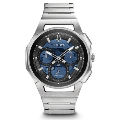 Picture of Bulova Men's Curv Chrono Stainless Steel Watch