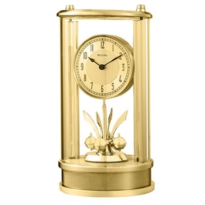 Picture of Bulova Mantel Gold-Tone Clock