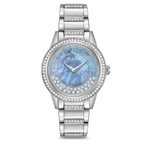 Picture of Bulova Ladies' Turnstyle Crystal Watch with Blue MOP Dial