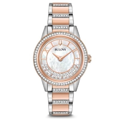 Picture of Bulova Ladies' Turnstyle Crystal Watch with Two-Tone Bracelet
