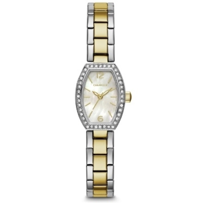 Picture of Bulova Caravelle NY Two-Tone Crystal Stretch Watch