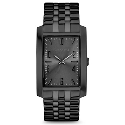 Picture of Bulova Caravelle NY Watch with Square Dial & Black Bracelet