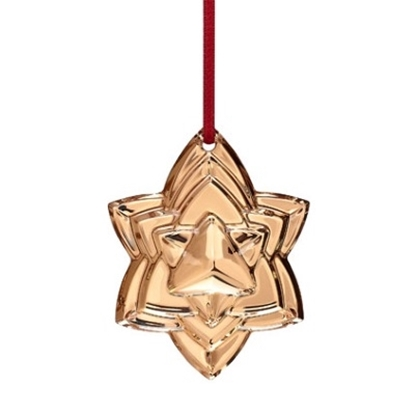 Picture of Baccarat Annual Ornament 2018 - Real 18k Gold