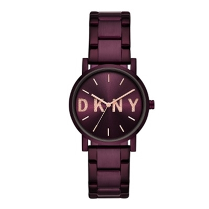 Picture of DKNY Ladies' Soho Purple-Tone Stainless Steel Watch