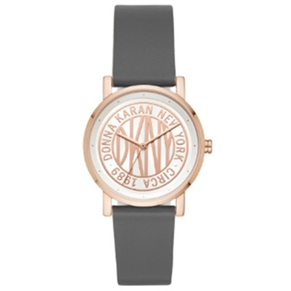 Picture of DKNY Ladies' Soho Rose Gold-Tone & Grey Leather Watch