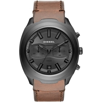 Picture of Diesel Tumbler Watch with Brown Leather Strap