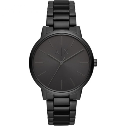 Picture of Armani Exchange Cayde Black-Tone Stainless Steel Watch