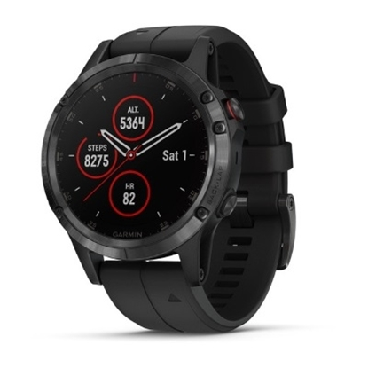 Picture of Garmin fenix 5 Plus Sapphire - Black with Black Band