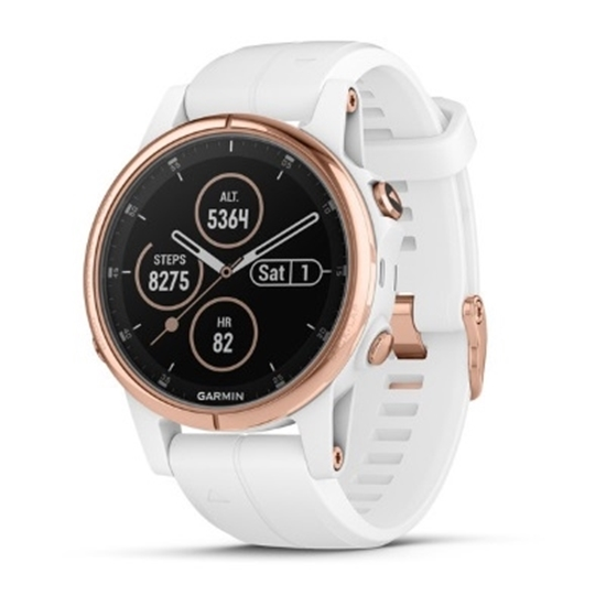 Picture of Garmin fenix 5S Plus Sapphire- Rose Gold w/ Carrara White Band