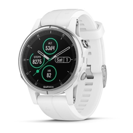 Picture of Garmin fenix 5S Plus Sapphire - White with Carrara White Band