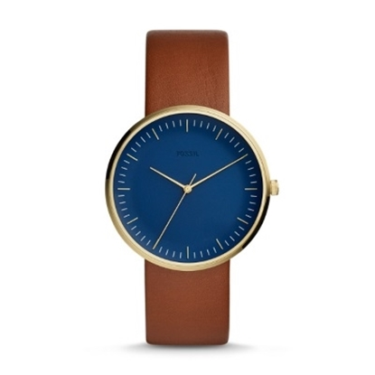 Picture of Fossil Men's Essentialist Watch with Blue Dial & Luggage Strap