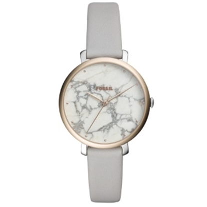 Picture of Fossil Ladies' Jacqueline Watch with Marble Dial & Grey Strap