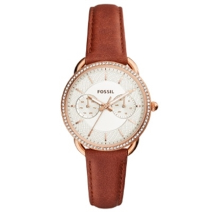 Picture of Fossil Ladies' Tailor Luggage Strap Watch with White Dial