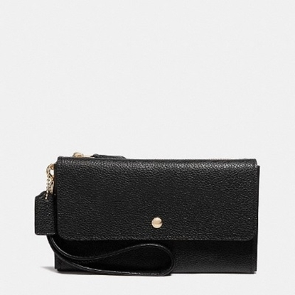 Picture of Coach Triple Small Wristlet - Black