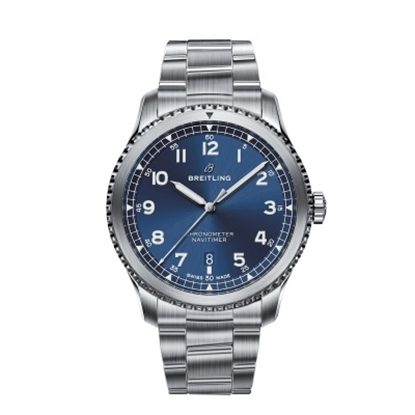 Picture of Breitling Navitimer 8 Auto 41 Steel Watch with Blue Dial