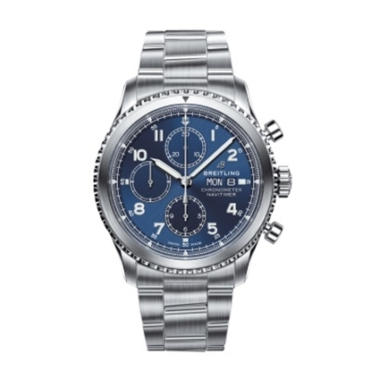 Picture of Breitling Navitimer 8 Chrono 43 Steel Watch with Blue Dial