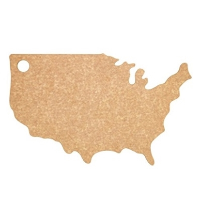 Picture of Epicurean USA Shaped Cutting Board - Natural