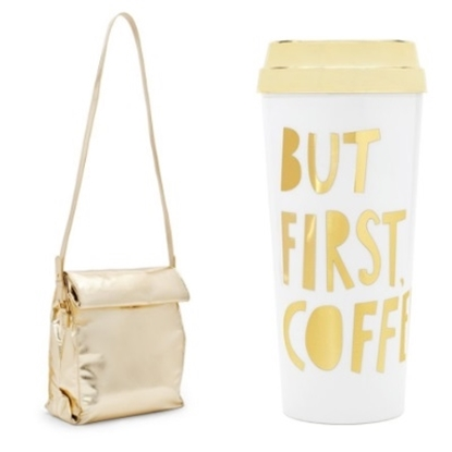 Picture of Ban.do Lunch Crossbody Bag & ''But First Coffee'' Thermal Mug