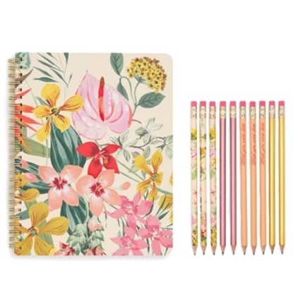 Picture of Ban.do Notebook, Pencil and Pencil Pouch Set - Paradiso