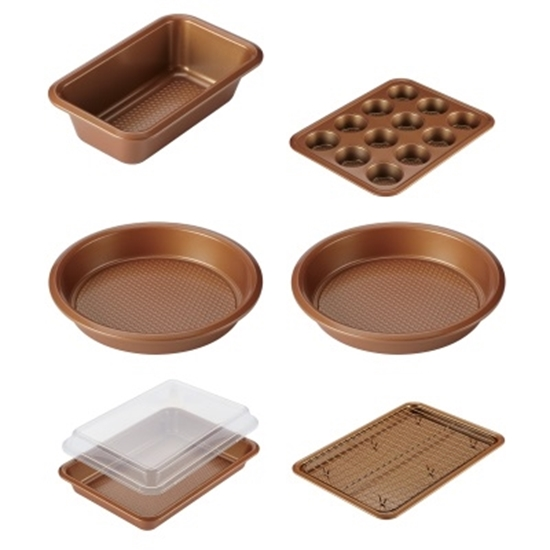 fcc2b6fd749 MileagePlus Merchandise Awards. Ayesha Curry 8-Piece Copper Bakeware Set