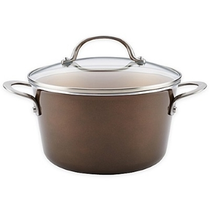 Picture of Ayesha Curry Aluminum 4.5-Quart Saucepot - Brown Sugar