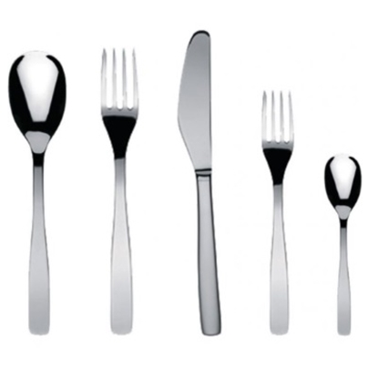 Picture of Alessi KnifeForkSpoon 5-Piece Cutlery Set