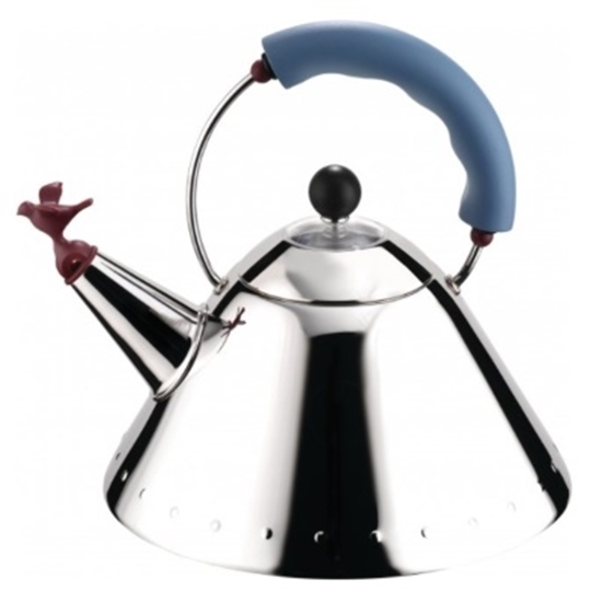 Picture of Alessi Kettle - Bird-Shaped Whistle/Blue Handle