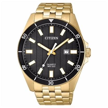 Picture of Citizen Men's Quartz Gold-Tone Stainless Steel Blk Dial Watch