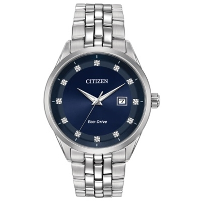 Picture of Citizen Men's Eco-Drive Corso Stainless Steel Blue Dial Watch