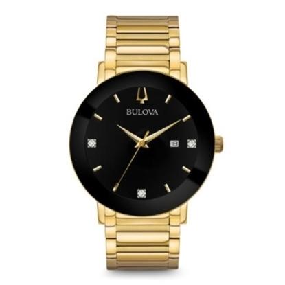 Picture of Bulova Men's Modern Diamond Gold & Black Dial Watch